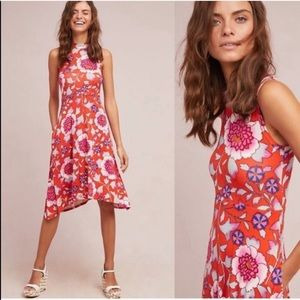 Anthropologie Maeve Cleary Floral Midi Dress